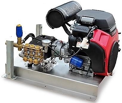 Honda GX690 20 hp water blaster and skid base (low speed